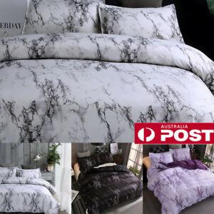 AU Single Double Queen King Size Marble Doona/Quilt Cover Set Duvet  AS AU2 A3
