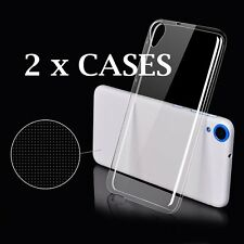 2 x Pieces -Transparent Clear TPU Rubber Soft Skin Case Cover for HTC Desire 816
