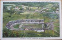 Lafayette, IN 1940s Postcard: Ross-Ade Football Stadium, Purdue University Band