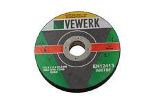 Vewerk 10pc 11.4cm Acero Inoxidable Discos de Corte 115x 1.00x 22.2mm B8010
