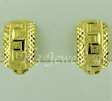diamond cut huggie 2.90 grams #2631 18k solid yellow gold hoop earring earrings