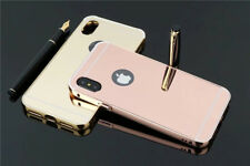 NEW Luxury Aluminum Ultra-thin Mirror Metal Case Cover for iPhone X 5 6 7 8 Plus