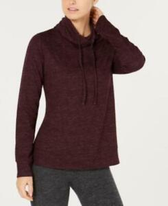 32 DEGREES Women's Fleece Funnel-Neck Top Heather Charcoal Medium
