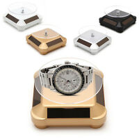 Double-Use Solar Power 360 Rotating Display Stand Table For Phone Watch Jewelry