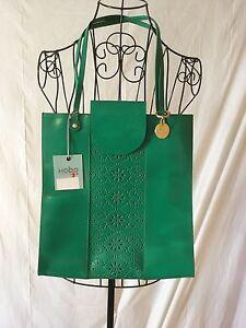 NWT HOBO THE ORIGINAL Priscilla Green Genuine Leather Purse Tote Women MSRP $238