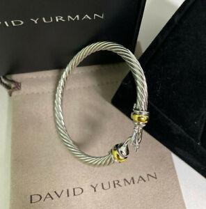 David Yurman Classic 5mm Cable Renaissance Hook Buckle Bracelet