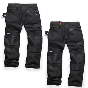 Scruffs RIPSTOP TWIN PACK Men's Multi-Pocket Work Trousers Black (Various Sizes)