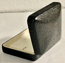 Vintage Hard Case Black Clamshell Earring Box Large