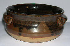 Castle Hedingham Studio Pottery - Stoneware twin handle dish - Collectable.