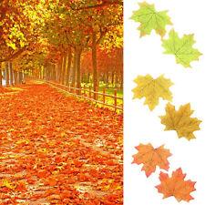 Wholesale 100Pcs Fall Silk Leaves Wedding Favor Autumn Maple Leaf Decorations