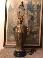 Vintage Tyndale Brass Elephant Table Lamp Made in USA
