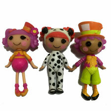 3pcs Mini Lalaloopsy Toy Character Dolls Playset 3'' Action Figure Kid Girl Gift