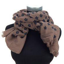 Damenschal taupe schwarz Blumen Schal by Ella Jonte new in scarf
