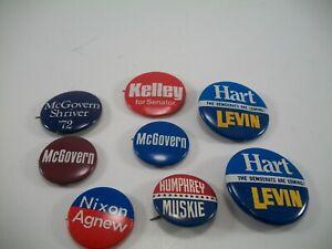 George McGovern Pin Back Button South Dakota Local Senate Senator Campaign