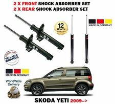 FOR SKODA YETI + 4x4 TSI TDI 2009> 2x FRONT + 2x REAR SHOCK ABSORBER SHOCKER SET