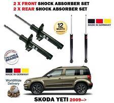 FOR SKODA YETI + 4x4 TSI TDI 2009> 2X FRONT + 2x REAR SHOCK ABSORBER SHOCKER SET