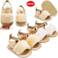 Newborn Infant Baby Boy Girl Crib Prewalker Soft Sole Anti-slip Shoes Sandals Td