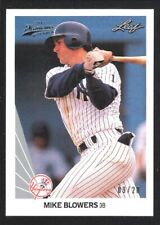 MIKE BLOWERS 2012 LEAF MEMORIES #109 SILVER 1990 BUY BACK NY YANKEES 9/20 SP