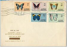 ETHIOPIA -  POSTAL HISTORY -  FDC COVER -    BUTTERFLIES 1967