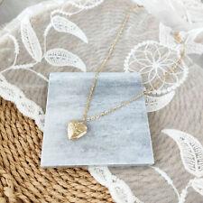 Damen Kette Herz Anhänger Love Medaillon Gold zum Öffnen Aufklappbar Herzkette