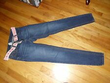 Women's Ecko Red Jeans W/Belt Size 1 Very Good Condition