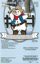 Western Snowman Christmas Yard Art Woodworking Plans by Sherwood Creations