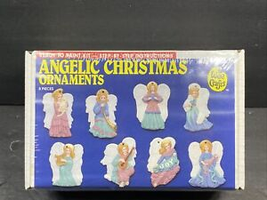 Accents Unlimited Wee Crafts Angelic Christmas Ornaments Flat Ready To Paint Kit