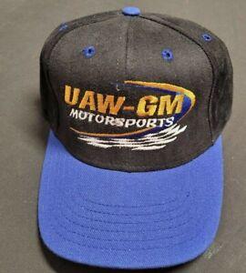 UAW - GM MOTORSPORTS BLACK - BLUE TRUCKER HAT NEVER WORN