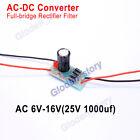 AC-DC Converter 6-32V to DC 12V Full-bridge Rectifier Filter Power Supply Module