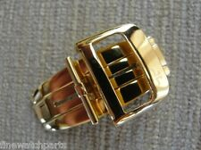 New HQ 316L 18mm S/S Yellow Gold Plated Deployment Buckle-Clasp Fit JLC Strap