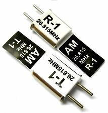 27mhz AM Transmitter and Radio RC Crystal Set 27 mhz 26.835 TX & RX Black Ch 2