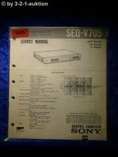 Sony Service Manual SEQ V705 Graphic Equalizer  (#0945)