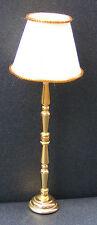 Escala 1:12 LED de batería de latón lámpara de pie en funcionamiento Casa de Muñecas Luz DE306