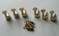 Gold 6 Inline Guitar Tuners Guitar Tuning Keys Pegs Machine Heads