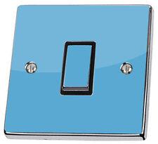 Plain Light Blue Single Switch Sticker vinyl skin cover decal colour Decor Art