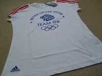 adidas Olympics LONDON 2012 Team GB 3 Stripe Ladies T- Shirt- White