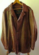 Men's Vintage 70's Reed Sportswear Fight Club Brown Retro Leather Jacket - Sz L?