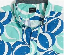 NEW mens J.crew Slim Fit short sleeve button up hawaiian shirt printed all sizes