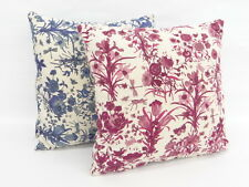 Auth GUCCI Cushions Pillows 2 Set Flora Pattern Blue Red 0 Ship 32140233800 vF