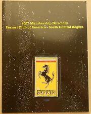 Ferrari Club of America South Central Region 2007 Members Mitglieder buch book
