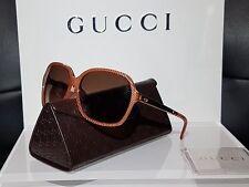 ☆ NEW Authentic Gucci GG 3687 4WSV6 Bronze Gold Sunglasses RRP$415 ☆