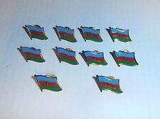 Wholesale Lot of 10 Rep. of Azerbaijan Flag Lapel Pin, Brass Finish, Brand New