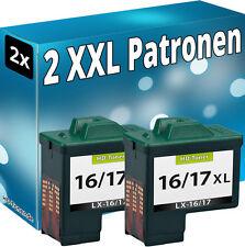2x DRUCKER PATRONE REFILL für LEXMARK Nr. 16/17 SCHWARZ TINTE PATRONEN 10NX217E