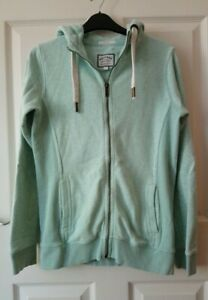Fat Face Zip-up Hoodie Jumper Size 10 Slim Fit Mint Green 'frost green'