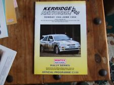 1994 KERRIDGE NATIONAL RALLY OFFICIAL PROGRAMME