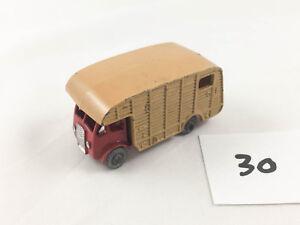 VINTAGE MATCHBOX LESNEY # 35A E.R.F. MARSHALL HORSE BOX TRUCK DIECAST RED/TAN