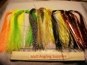 Pack of Crystal Flash or Flashabou for Fly Tying, Choose Colour / Type from Menu
