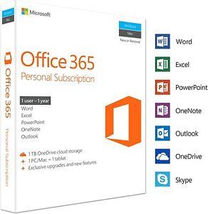 Microsoft Office 365 Personal 5 Dispositivi 1 Utente 1 Anno Abbo Office Single☀️