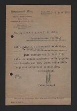 Berlino, Lettera 1919, brevetto avvocato Mintz