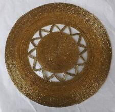 Sottopiatto tovaglietta oro cm 35 in vetrini perline sotto piatto tovaglia ameri